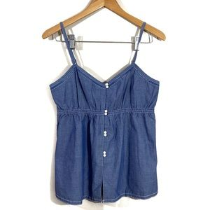 Madewell Denim Button Up Tank